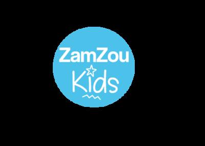 Logo Zamzou Kids Box ludique et pédagogique - Fait par Lae Digital