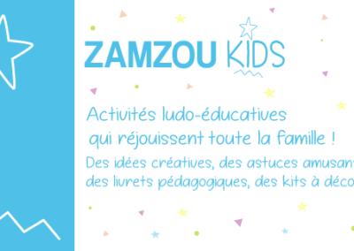 Logo ZamzouKids Box ludique et pédagogique - Fait par Lae Digital